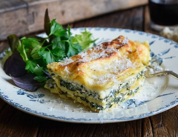 wspinach and feta